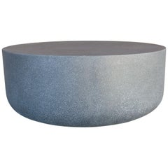 Cast Resin 'Millstone' Coffee Table, Coal Stone Finish by Zachary A. Design