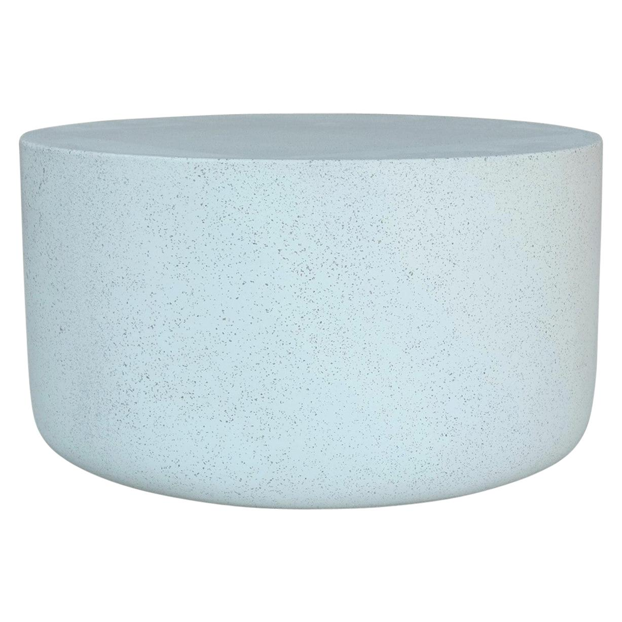 Cast Resin 'Millstone' Coffee Table, White Stone Finish by Zachary A. Design
