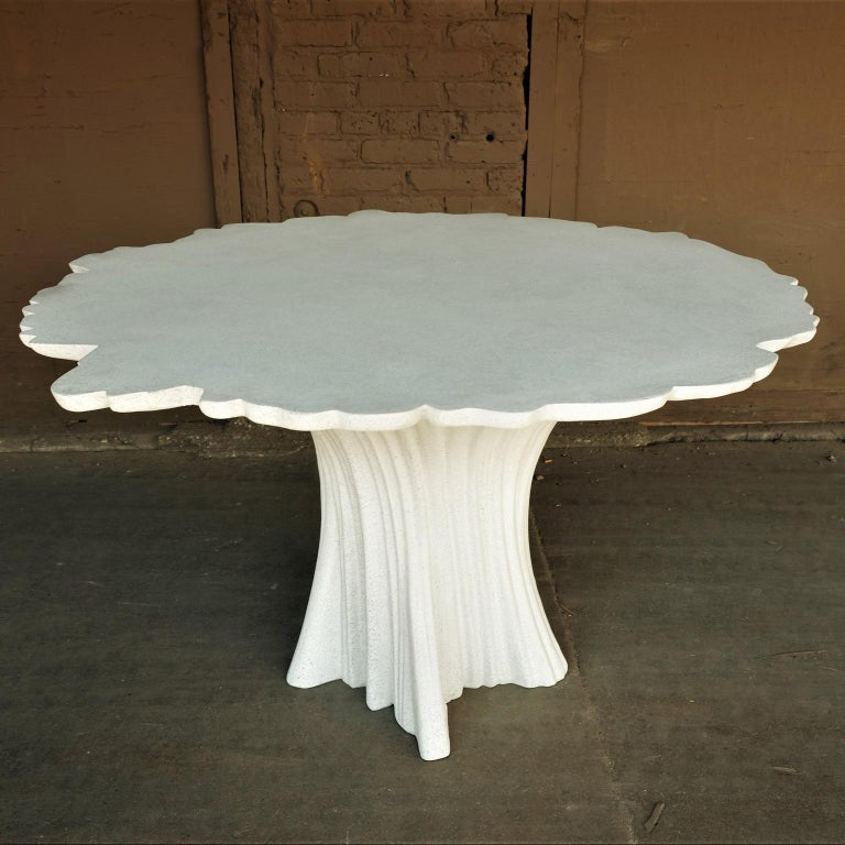Cast Resin 'Perennial Cypress' Dining Table, White Stone by Zachary A. Design 2
