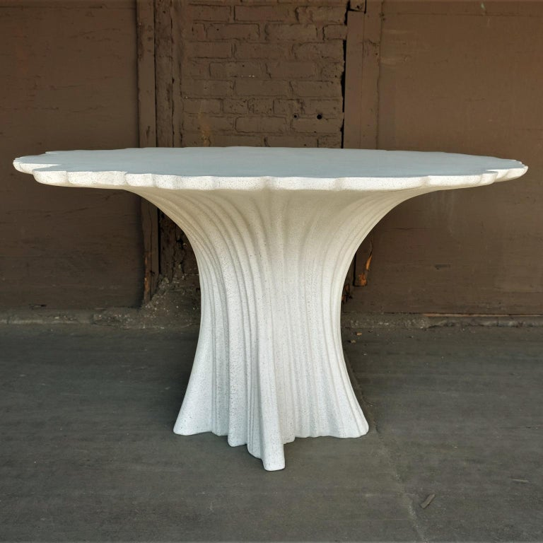 Cast Resin 'Perennial Cypress' Dining Table, White Stone by Zachary A. Design 3