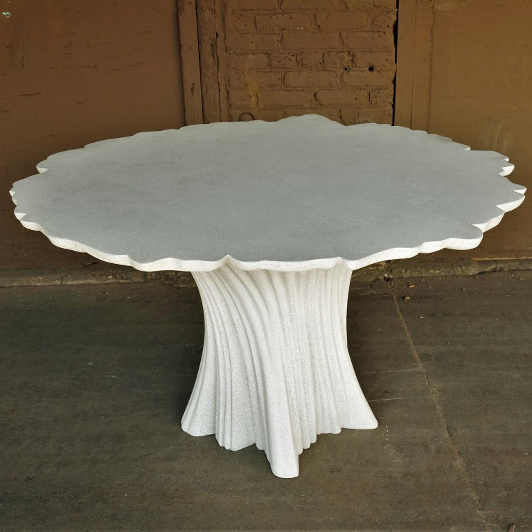 Cast Resin 'Perennial Cypress' Dining Table, White Stone by Zachary A. Design 4