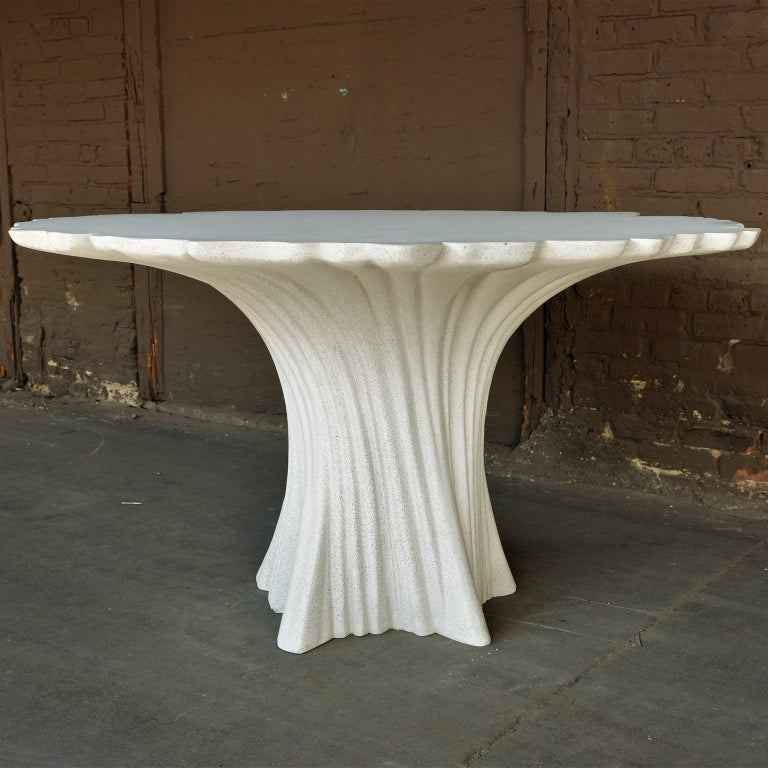 Cast Resin 'Perennial Cypress' Dining Table, White Stone by Zachary A. Design 5