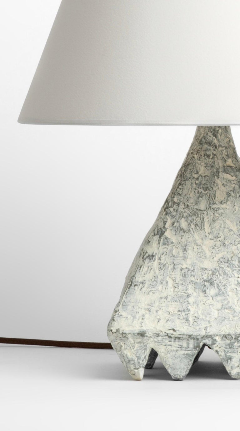 Cast Resin Plaster Texture Cubetto Table Lamp, Kacper Dolatowski In New Condition For Sale In New York, NY