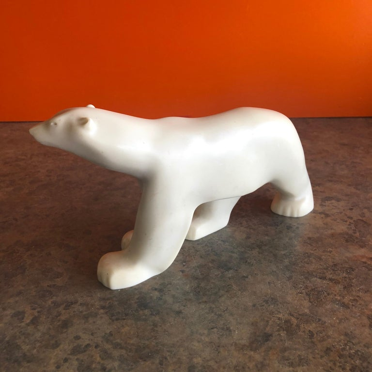 American Cast Resin Polar Bear Sculpture by Francois Pompon for the MOMA Collection