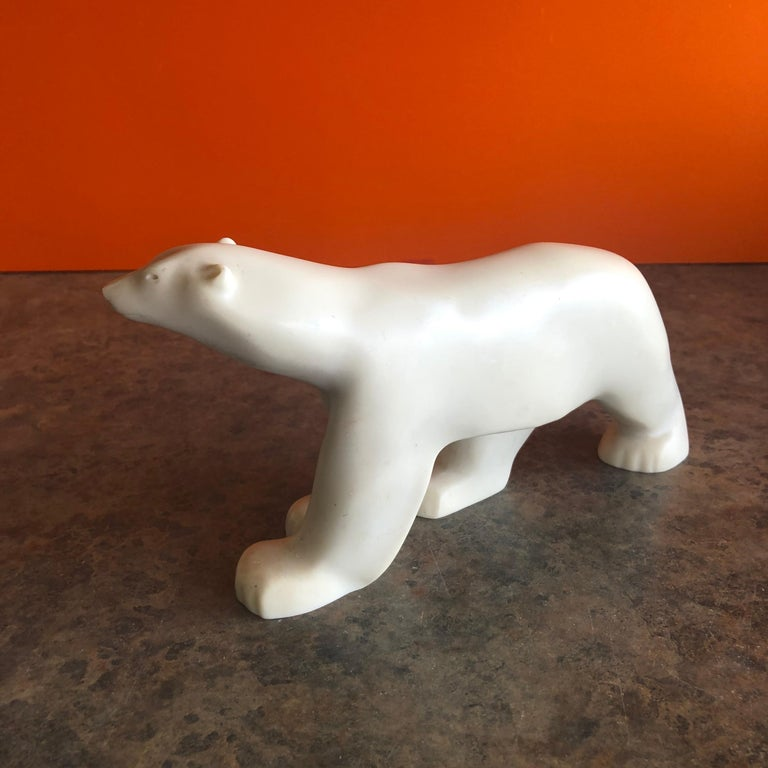 Cast Resin Polar Bear Sculpture by Francois Pompon for the MOMA Collection 3