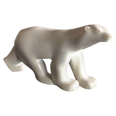 Cast Resin Polar Bear Sculpture by Francois Pompon for the MOMA Collection