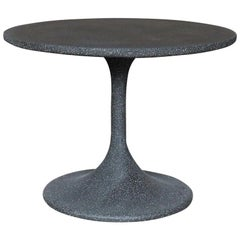 Cast Resin 'Spindle' Side Table, Coal Stone Finish by Zachary A. Design