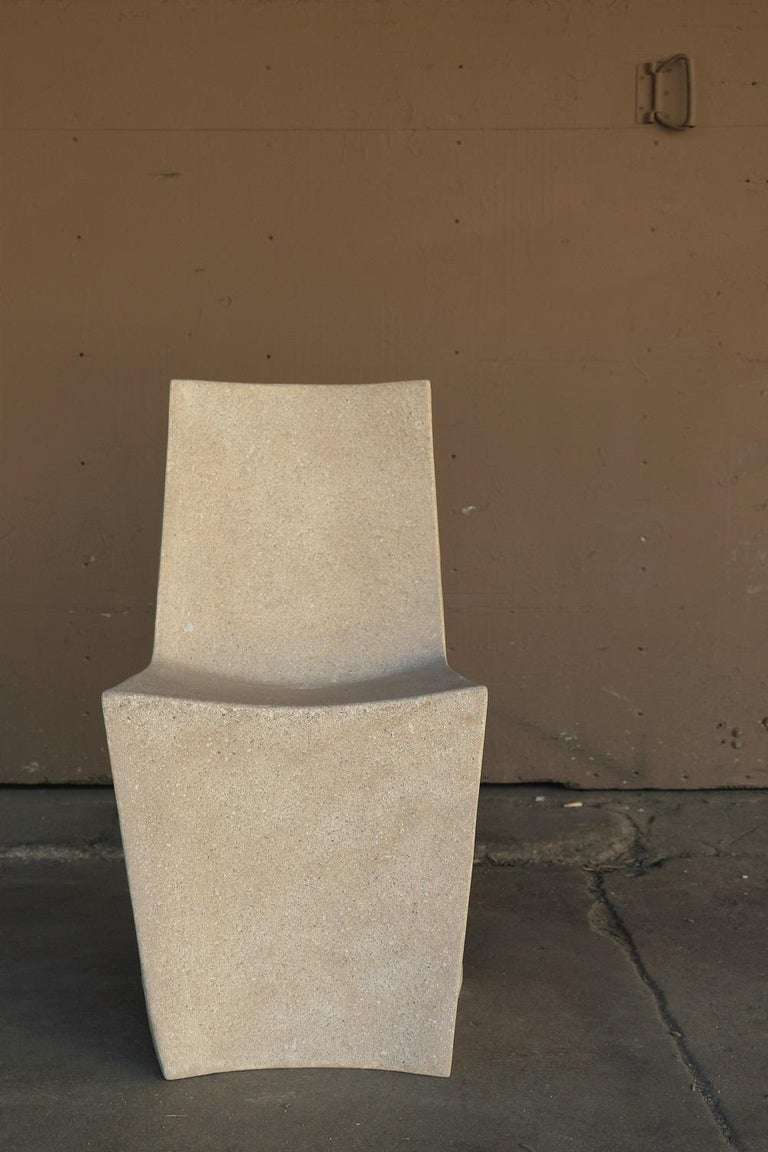 Cast Resin 'Stone' Dining Chair, Aged Stone Finish by Zachary A. Design For Sale 1