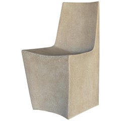 Cast Resin 'Stone' Dining Chair, Aged Stone Finish by Zachary A. Design
