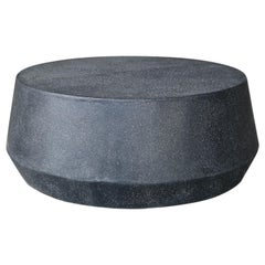 Cast Resin 'Tom' Cocktail Table, Coal Stone Finish by Zachary A. Design