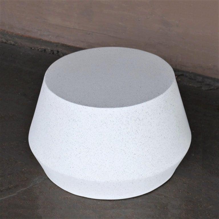 Minimalist Cast Resin 'Tom' Cocktail Table, White Stone Finish by Zachary A. Design For Sale