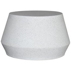 Cast Resin 'Tom' Cocktail Table, White Stone Finish by Zachary A. Design