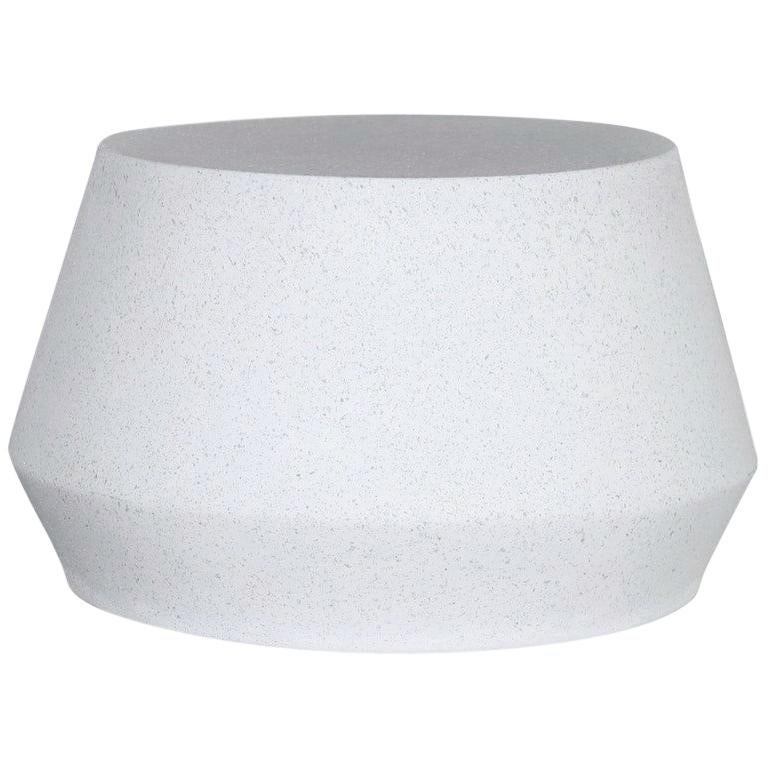 Cast Resin 'Tom' Cocktail Table, White Stone Finish by Zachary A. Design For Sale