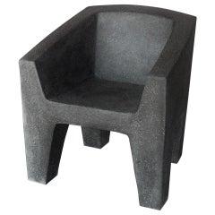 Cast Resin 'Van Eyke' Club Chair, Coal Stone Finish by Zachary A. Design