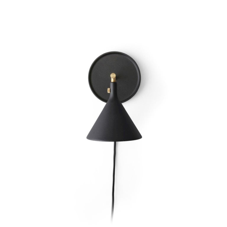 Blackened Cast Sconce Wall Lamp, Black by Thomas Chung & Jordan Murphy For Sale