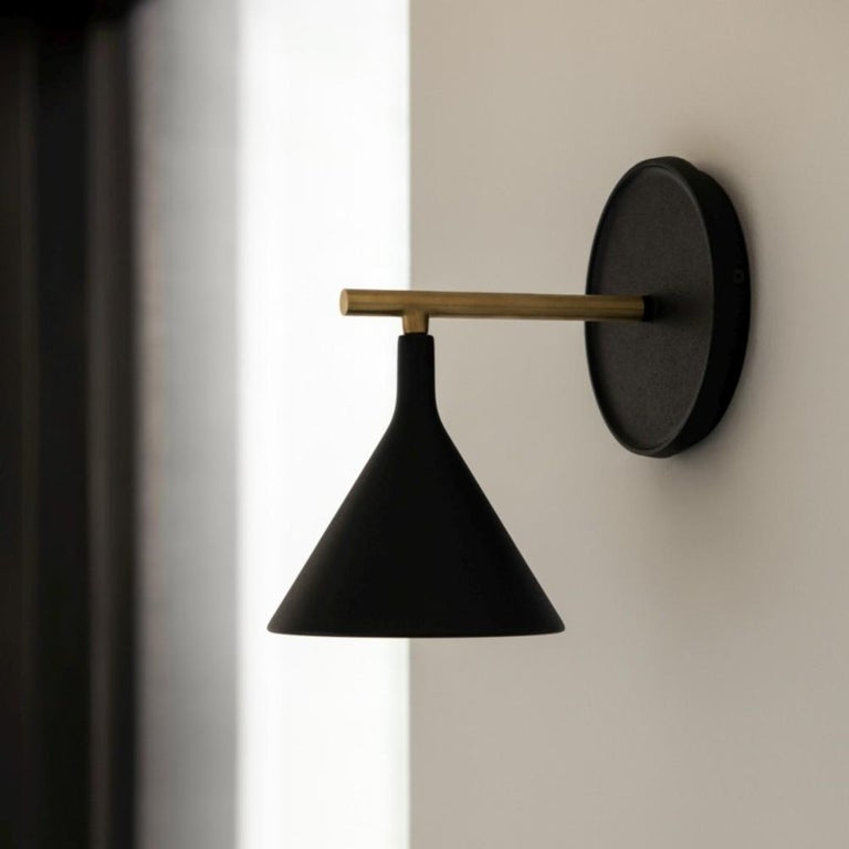 Cast Sconce Wall Lamp, Black by Thomas Chung & Jordan Murphy For Sale 1