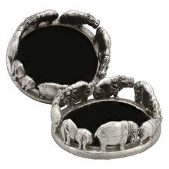 Cast Sterling Silver Coasters by Patrick Mavos