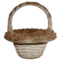 Cast Stone Basket Planter