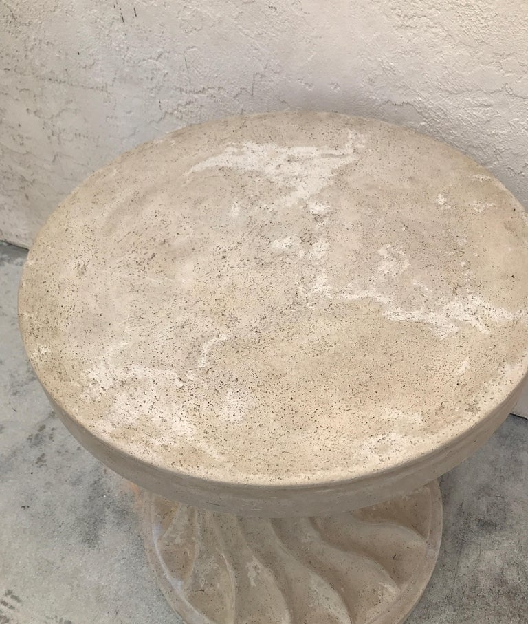 Cast Stone Dining Table Base In Good Condition For Sale In West Palm Beach, FL