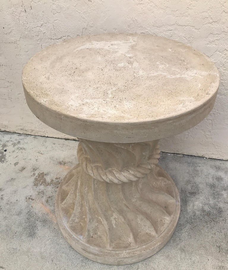 Cast Stone Dining Table Base For Sale 2