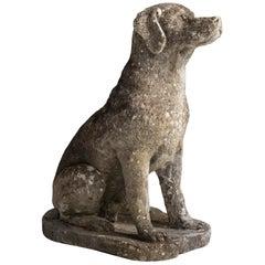 Cast Stone Dog