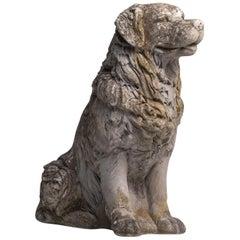 Cast Stone Dog, France, circa 1950