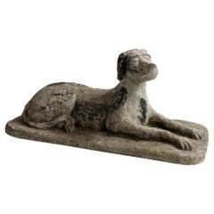 Cast Stone Dog Garden Sculpture, France, 1950