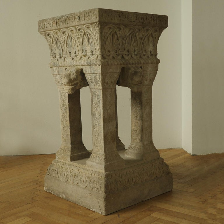 Renaissance Revival Cast Stone Fountain or Planter, Late 19th Century For Sale