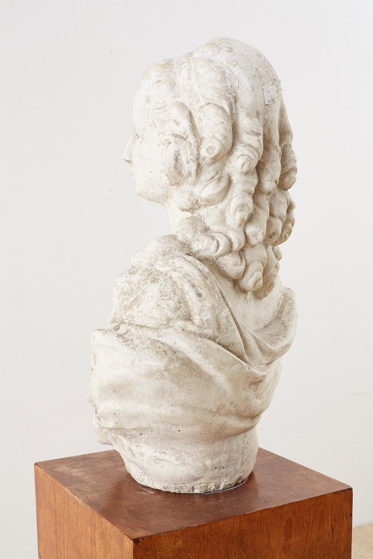 Cast Stone Garden Bust Sculpture of Marie Antoinette For Sale 10