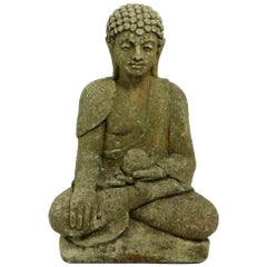 Cast Stone Seated Tibetan Buddha