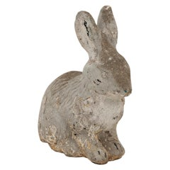 Cast Stone Sitting Rabbit