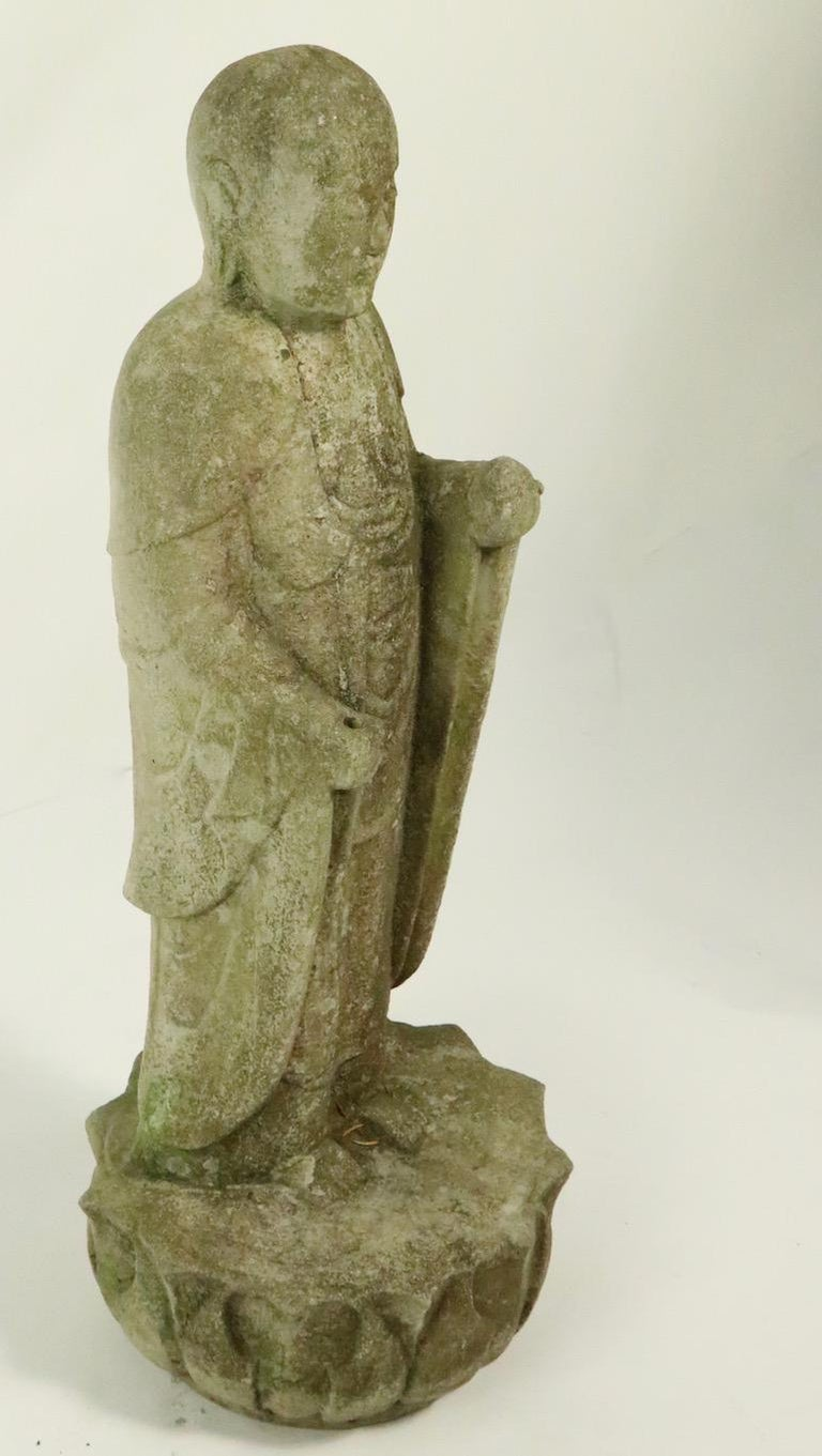 20th Century Cast Stone Standing Tibetan Buddha For Sale