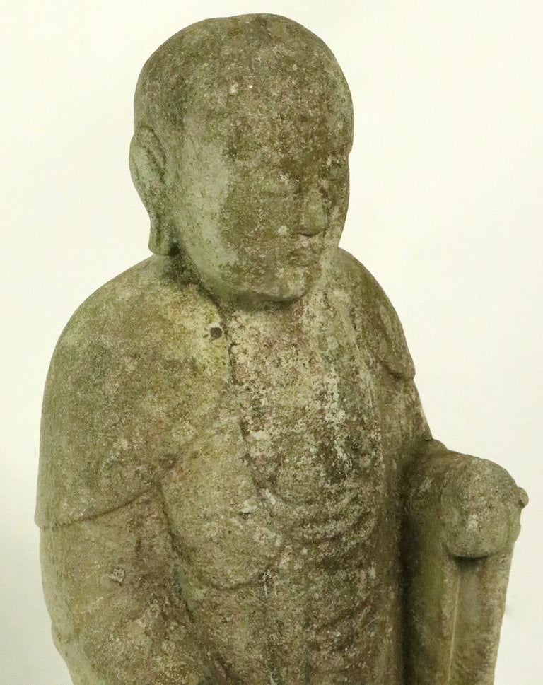 Cast Stone Standing Tibetan Buddha For Sale 3