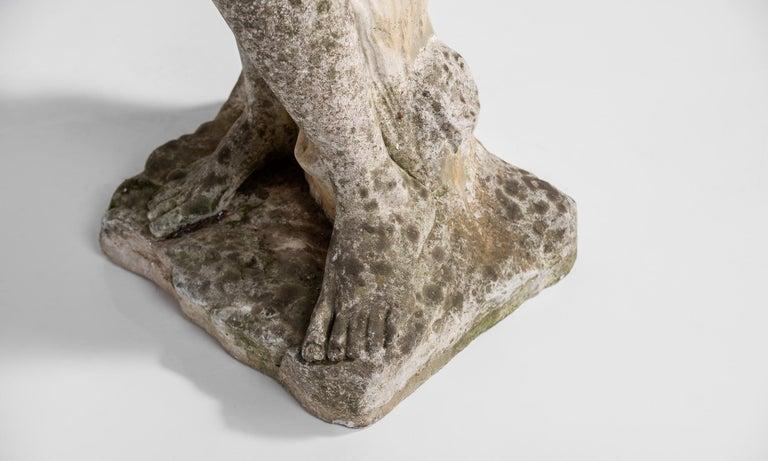 Cast Stone Statue, France, circa 1900 For Sale 4