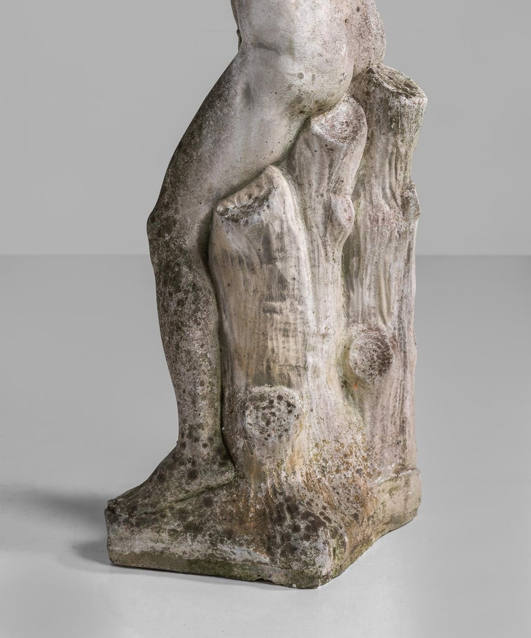 Cast Stone Statue, France, circa 1900 For Sale 5