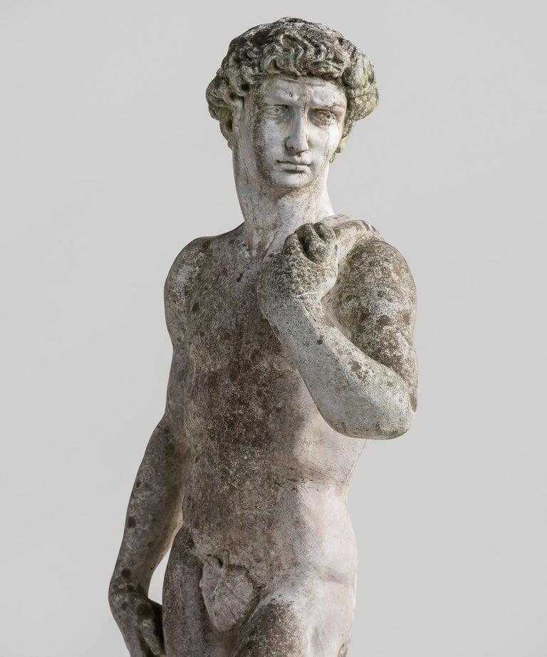 Renaissance Cast Stone Statue, France, circa 1900 For Sale