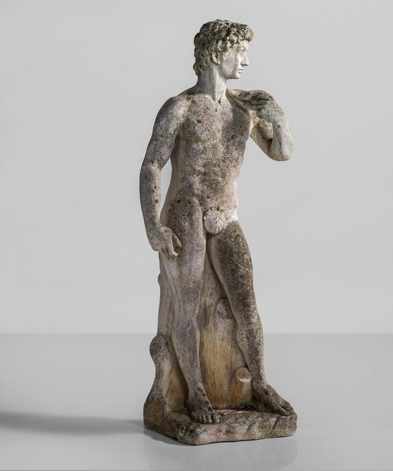 Cast Stone Statue, France, circa 1900 In Good Condition For Sale In Culver City, CA