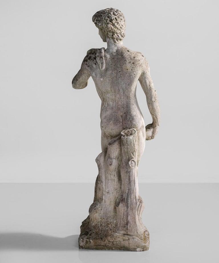 Cast Stone Statue, France, circa 1900 For Sale 1
