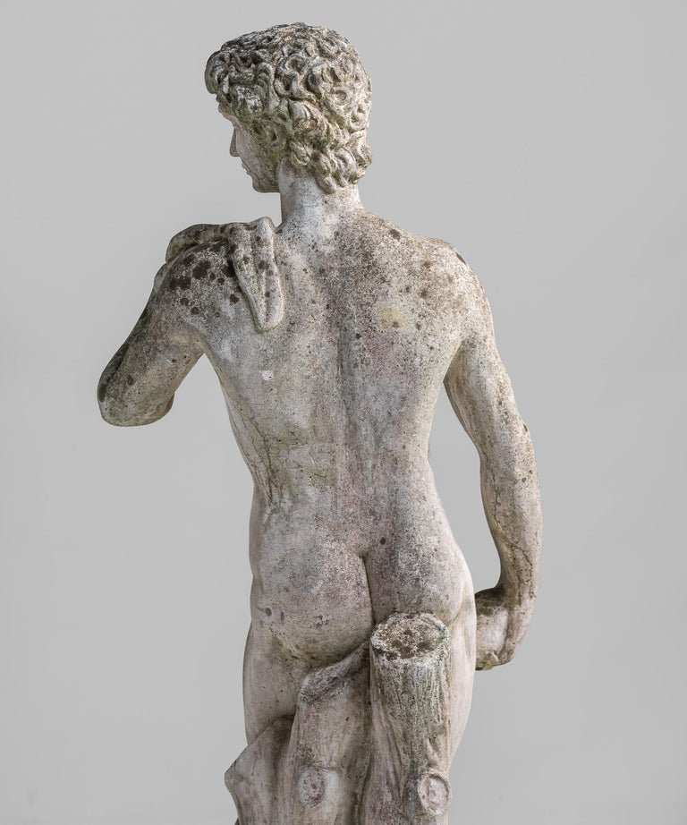 Cast Stone Statue, France, circa 1900 For Sale 2