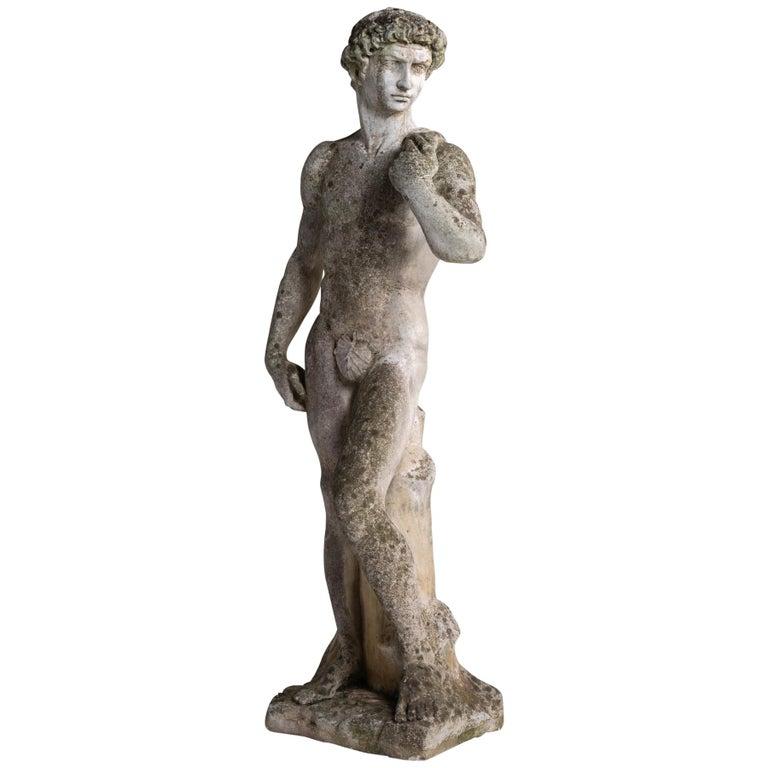Cast Stone Statue, France, circa 1900 For Sale