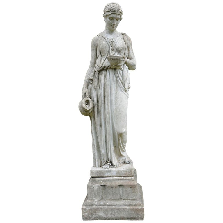 Cast-Stone Statue of Hebe For Sale