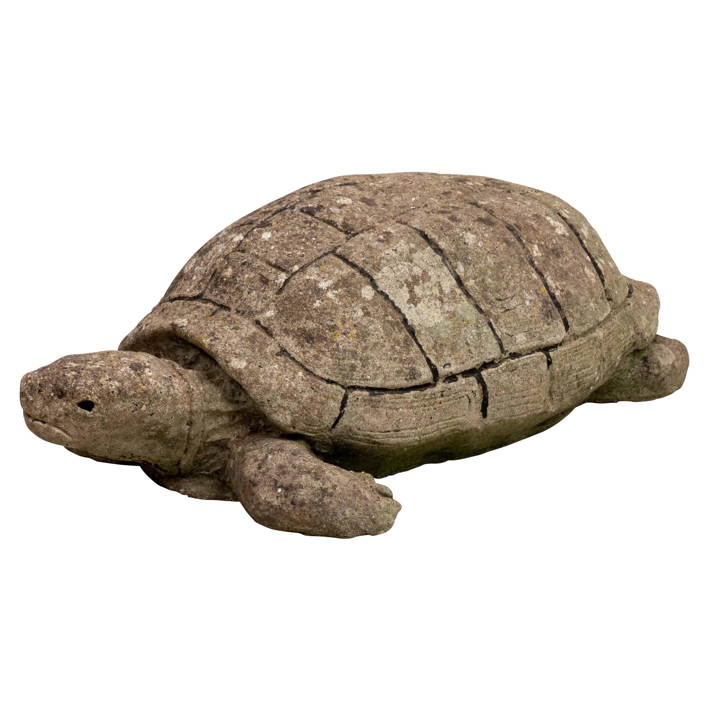 Cast Stone Turtle Garden Ornament