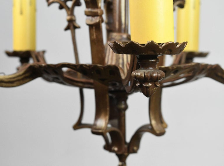 Cast tudor five candle chandelier for sale at 1stdibs cast tudor five candle chandelier in excellent condition for sale in minneapolis mn aloadofball Choice Image
