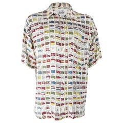 Castelbajac Mens Vintage All Over Print Shirt 1980s