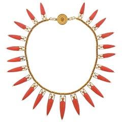 Castellani Coral Gold Necklace