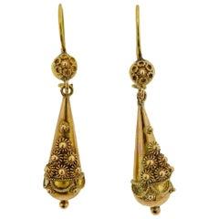 Castellani Gold Drop Earrings