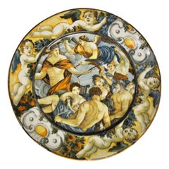 Castelli Ceramic Plate, Made in Abruzzo, Italy, 17th Century