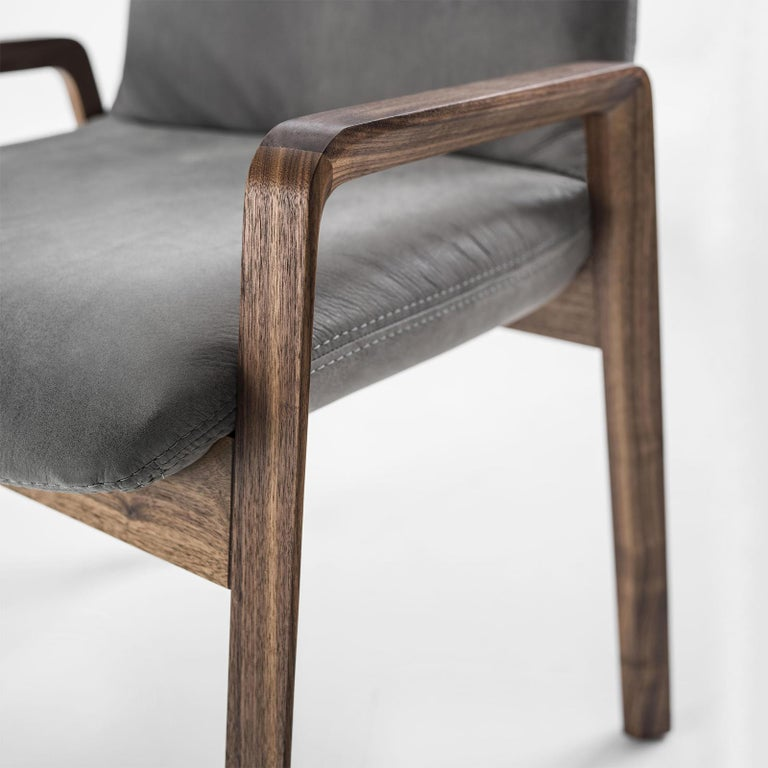 Castello Chair in Solid Walnut Wood For Sale 2