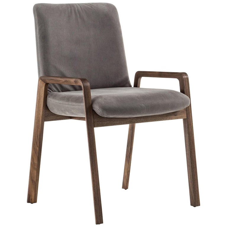 Castello Chair in Solid Walnut Wood For Sale