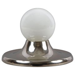 """Castiglioni Midcentury Chromed Metal """"Light Ball"""" Italian Sconce for Flos, 1960s"""